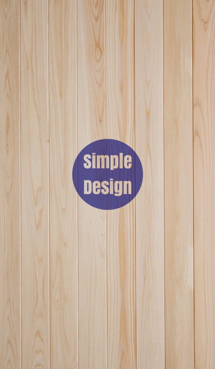 Wood Simple Design Blue ver.