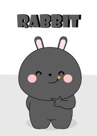 I Love Cute Black Rabbit Theme
