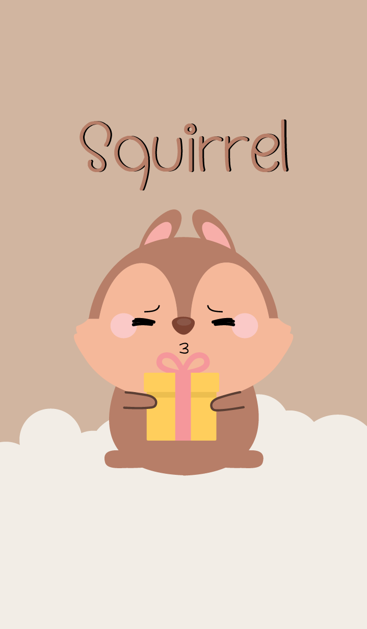 I Love Lovely Squirrel Theme