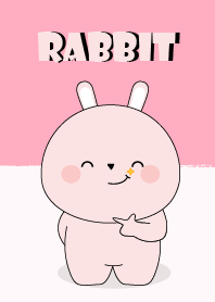 I Love Cute Pink Rabbit Theme