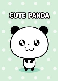 Round cute panda