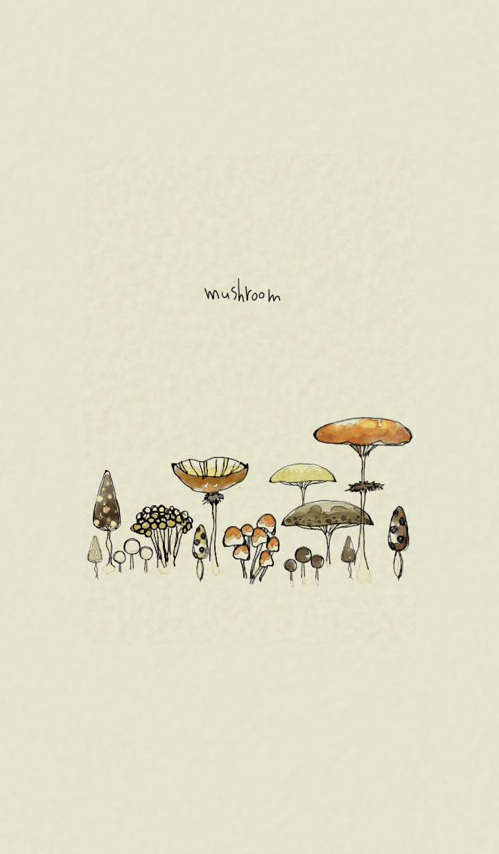 Many mushrooms in brown color.