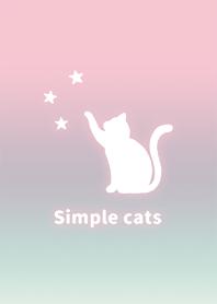 簡單 貓 星星 漸層