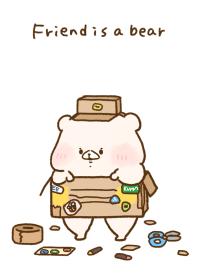 Friend is a bear(Cardboard)