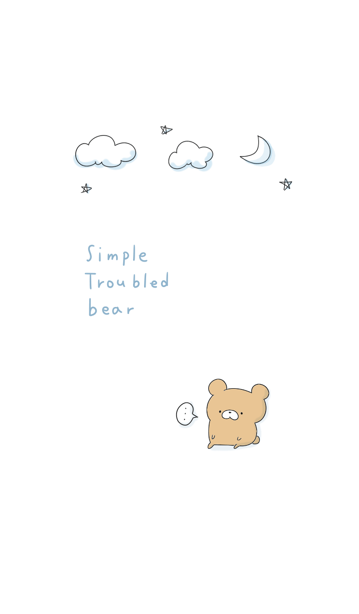 simple Troubled bear.