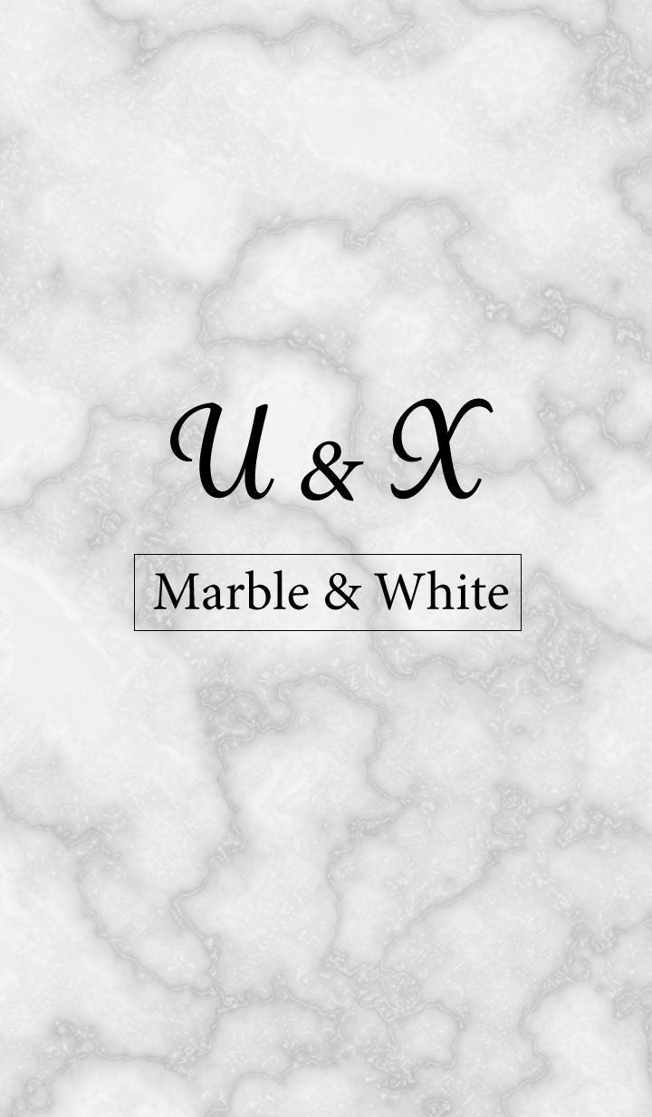 U&X-Marble&White-Initial