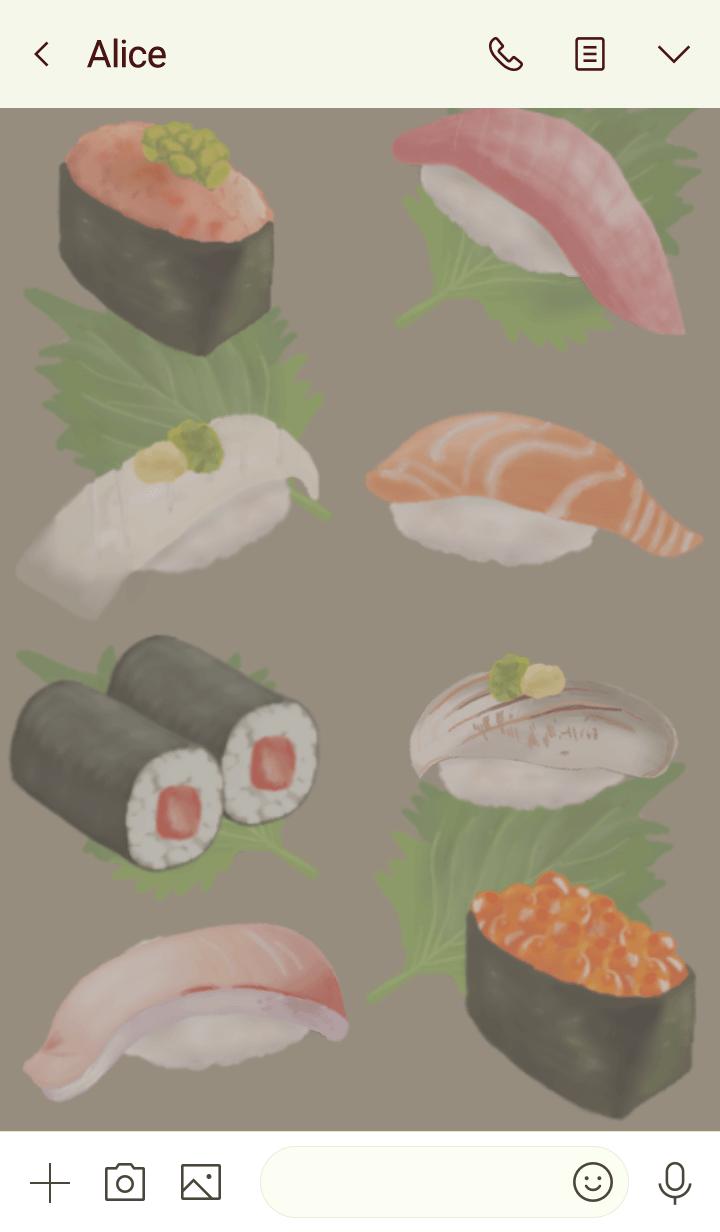 .Japanese sushi.