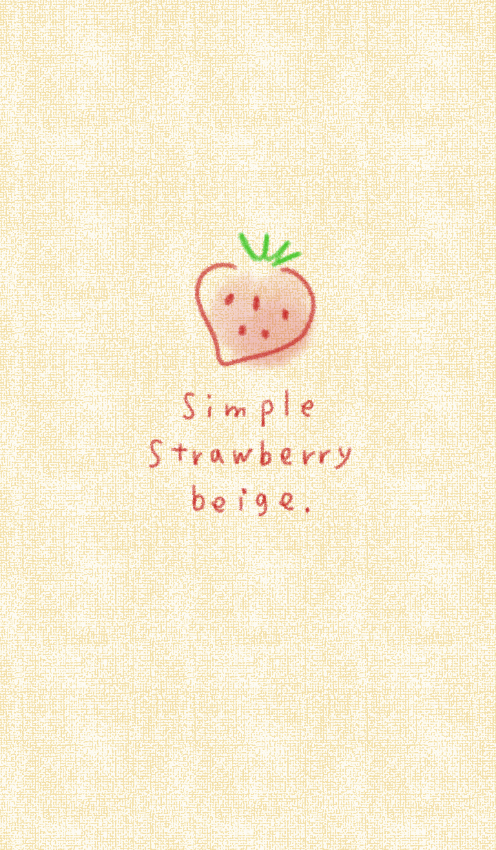 Simple strawberry beige