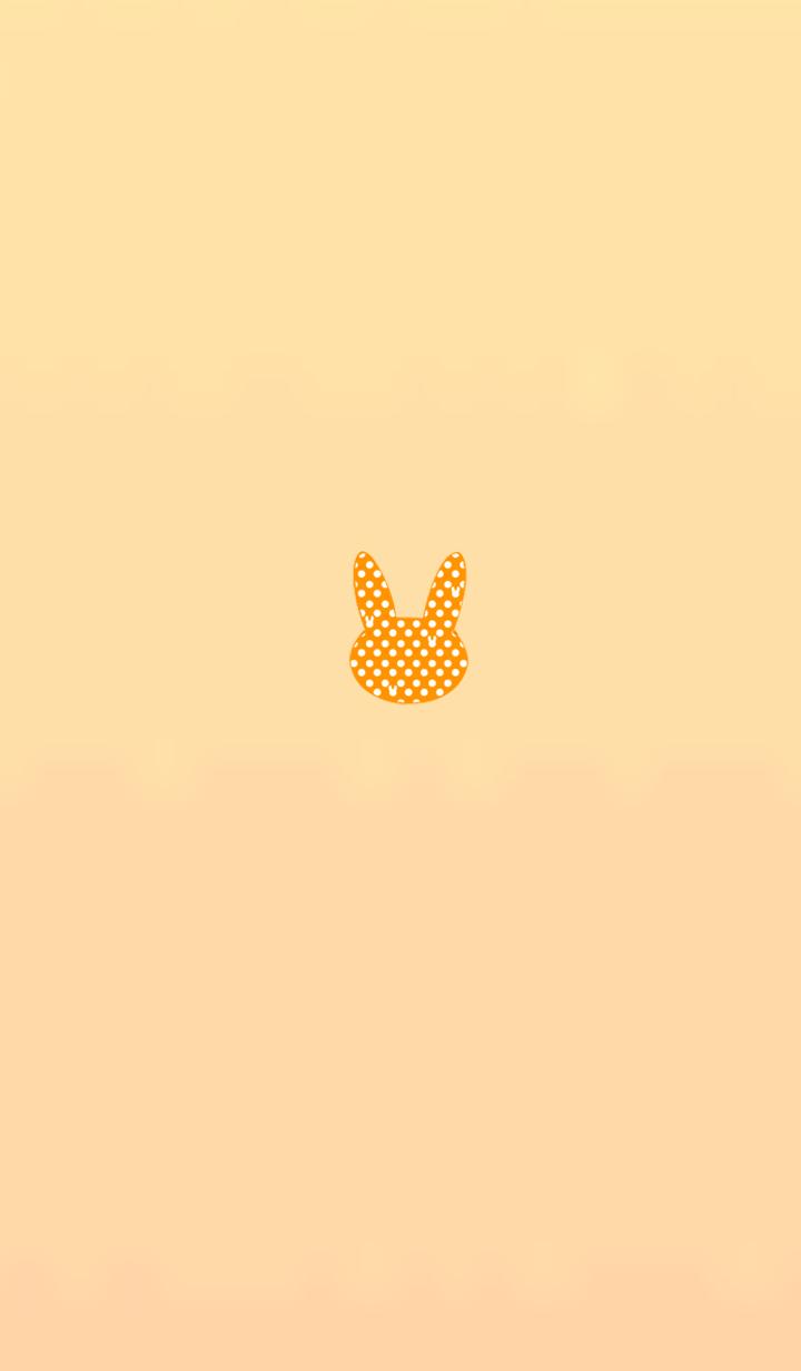 Dot red rabbit 21