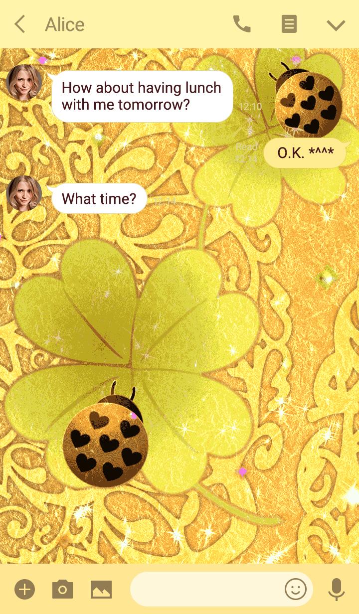 Theme to improve luck:clover&Ladybug