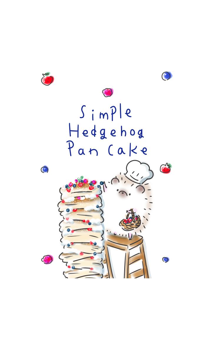 simple Hedgehog pancake