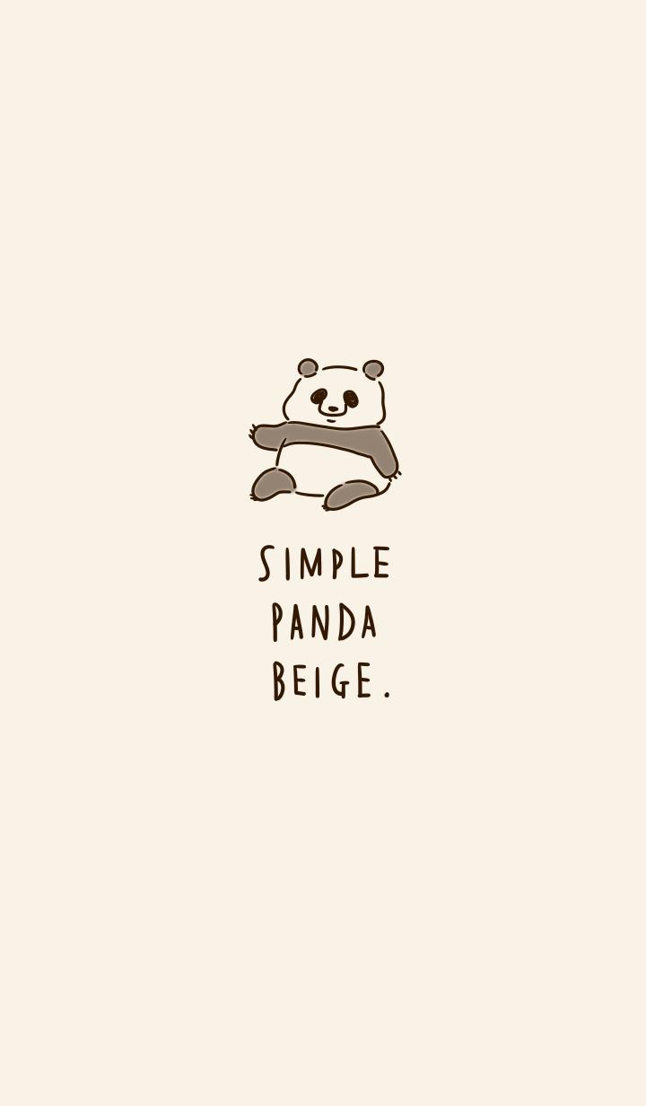 Simple panda beige.