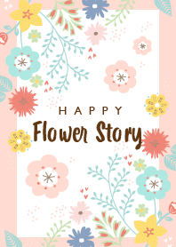 HAPPY Flower Story pink