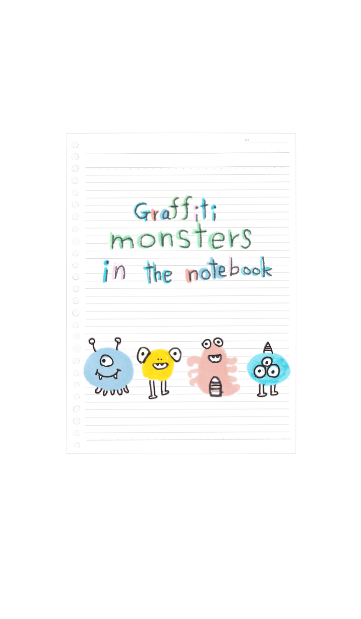 Graffiti monsters in the notebook