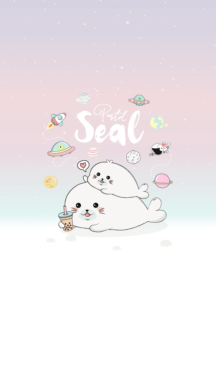 Seal Bubble tea addict. (Pastel)