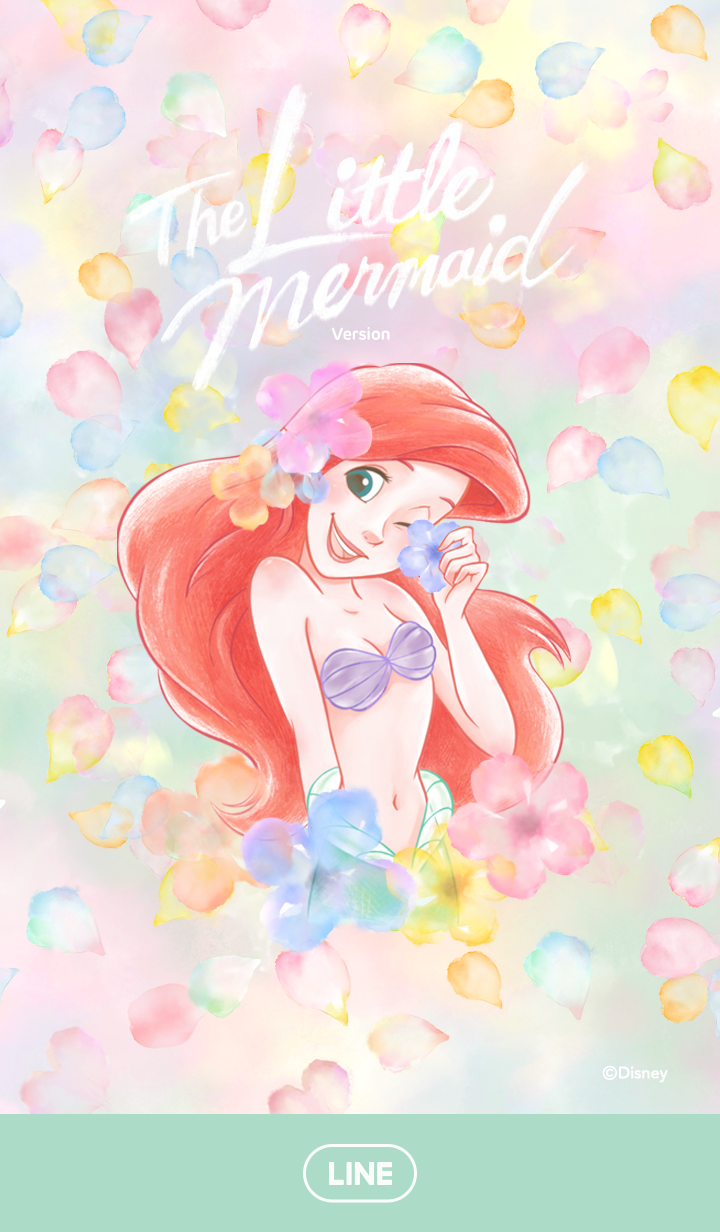 The Little Mermaid (Floral)