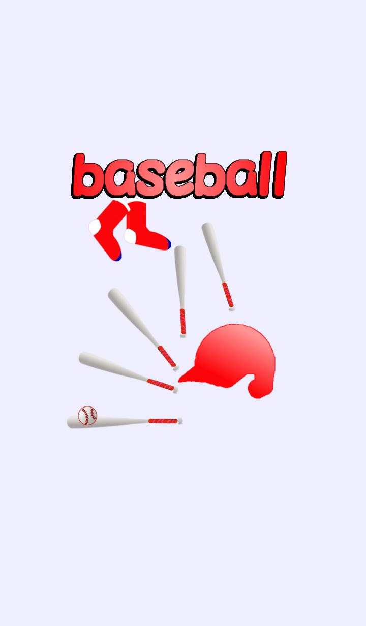 baseball red helmet and red-socks