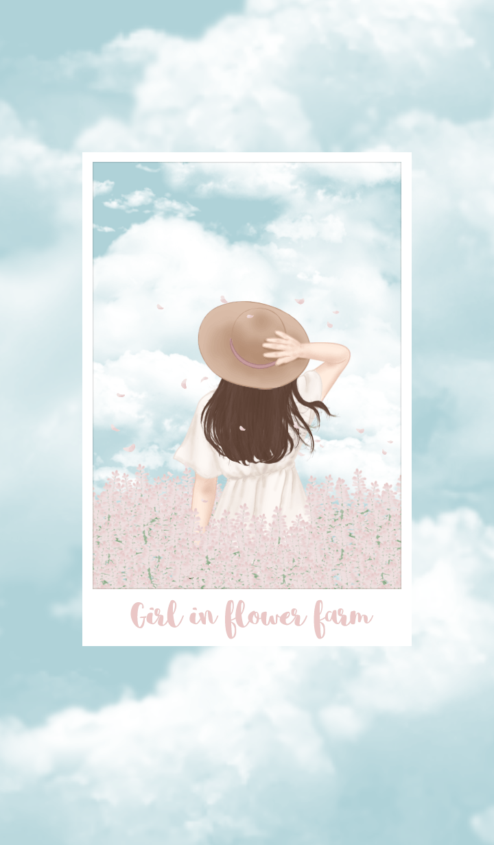 Girl in flower farm