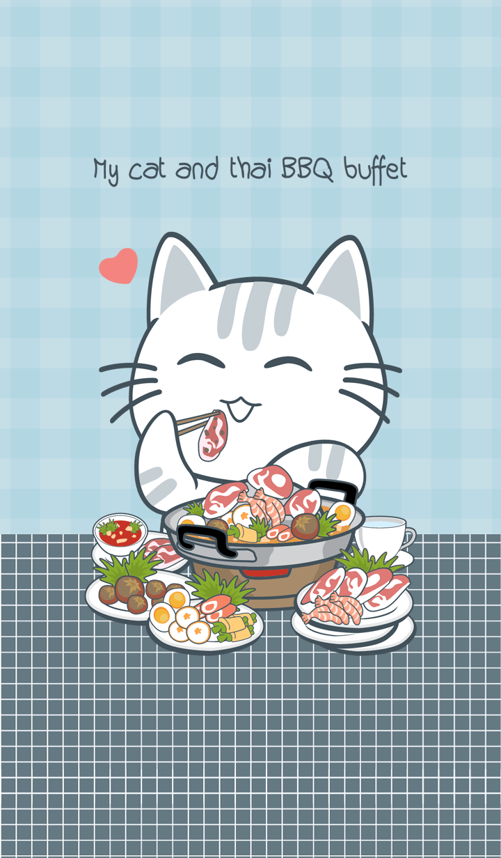 My cat and Thai BBQ buffet