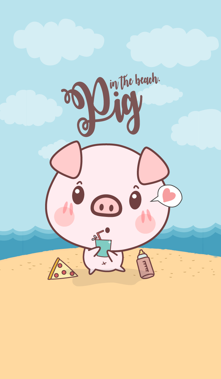 Pig in The Beach (Beach Ver.)
