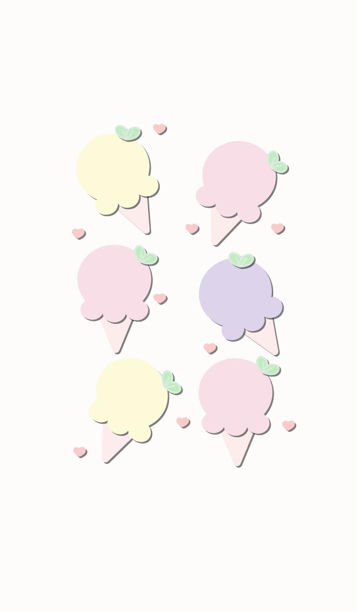 Cute ice-cream theme 56