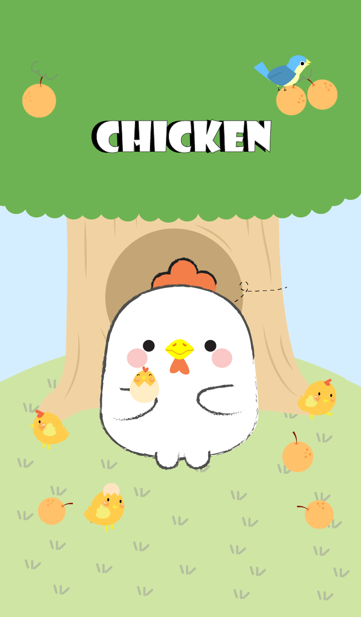 White Chicken With Tree Theme (jp)