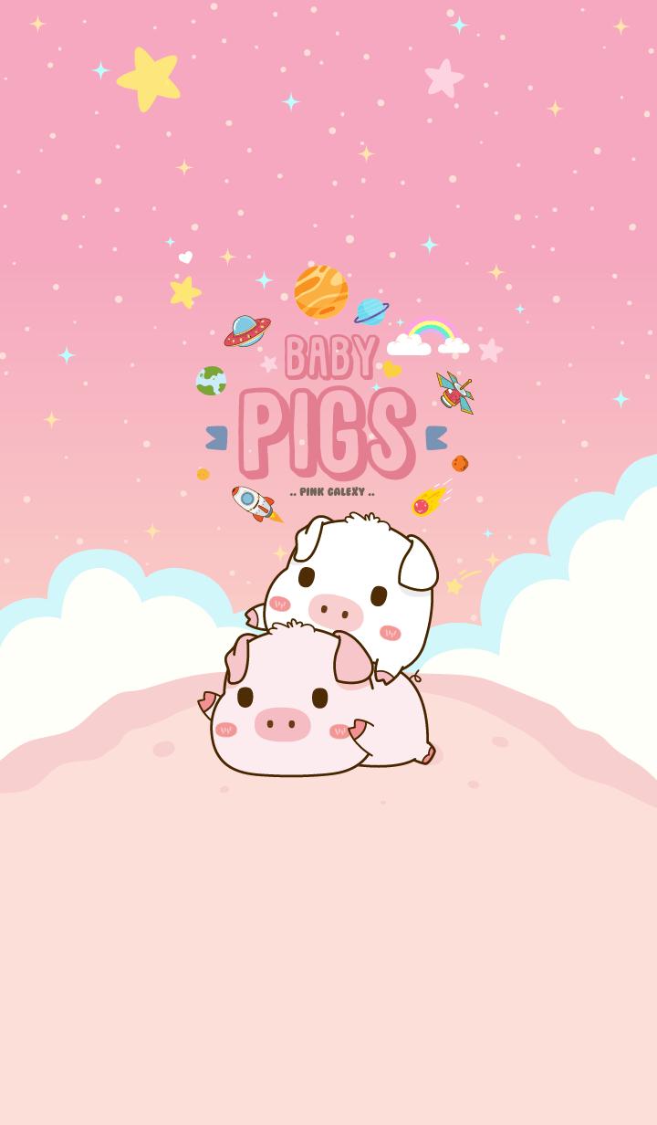 Baby Pig Galaxy Pink Pastel