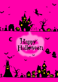 Happy Halloween Townscape illustration.P