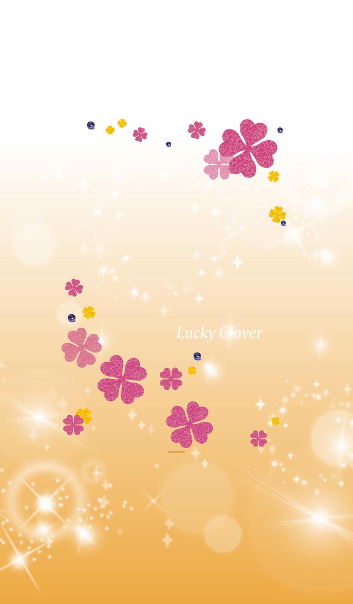 Orange : Lucky pink clover
