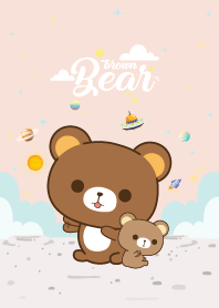 Brown Bear Love Galaxy Rose