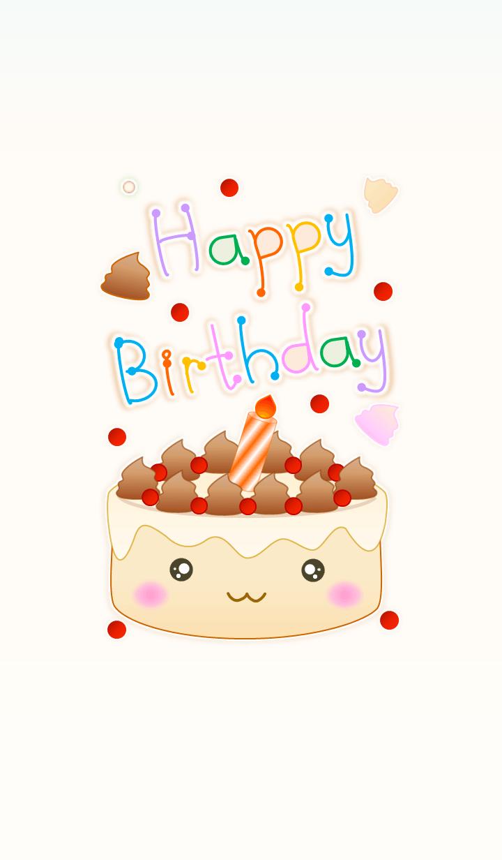 HBD Vanilla Cake (Beige V.4)