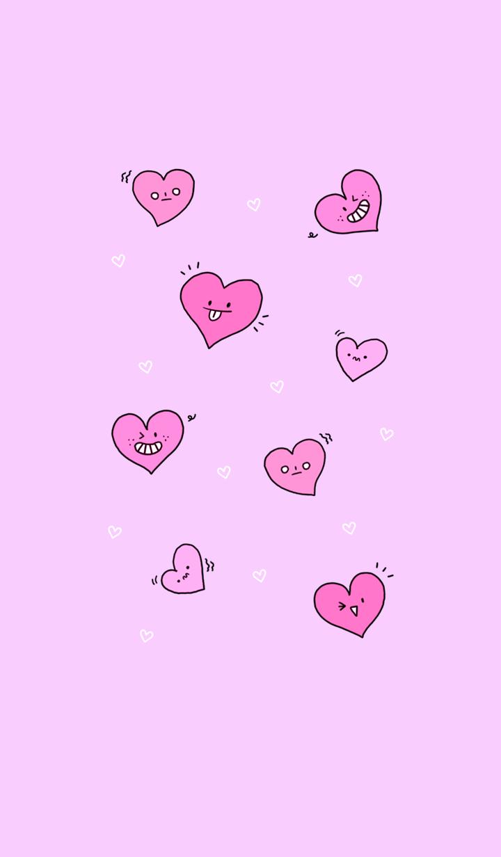 dynamic heart pink