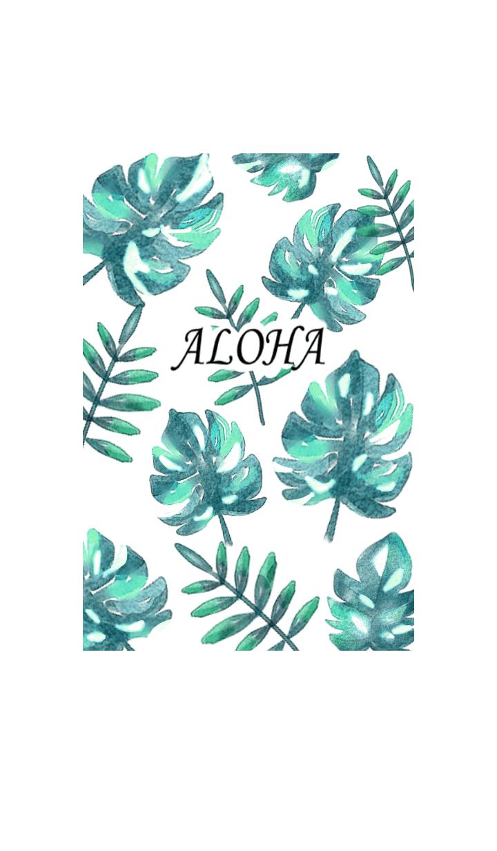 Watercolor refreshing summer plants2.