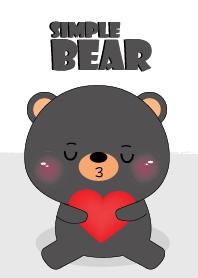 Simple Love Cute Black Bear