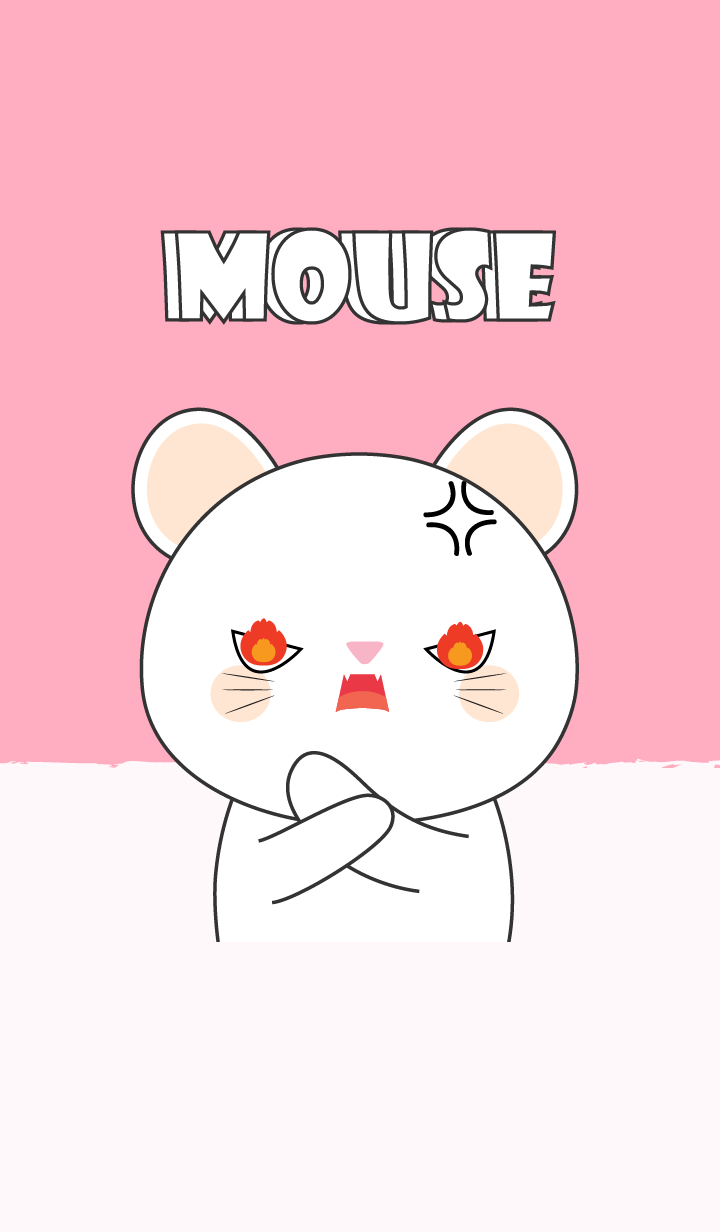 I'm Cute White Mouse