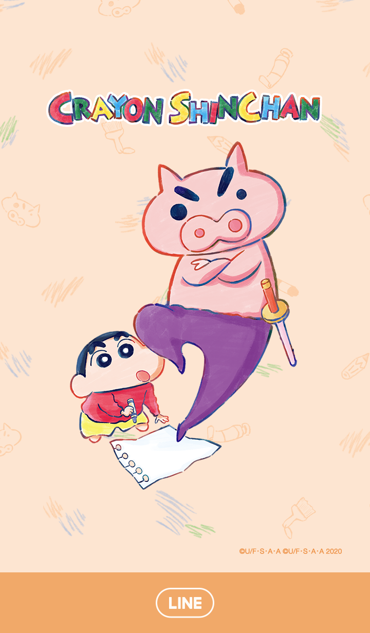 Shinchan & Buriburizaemon (Sketch)
