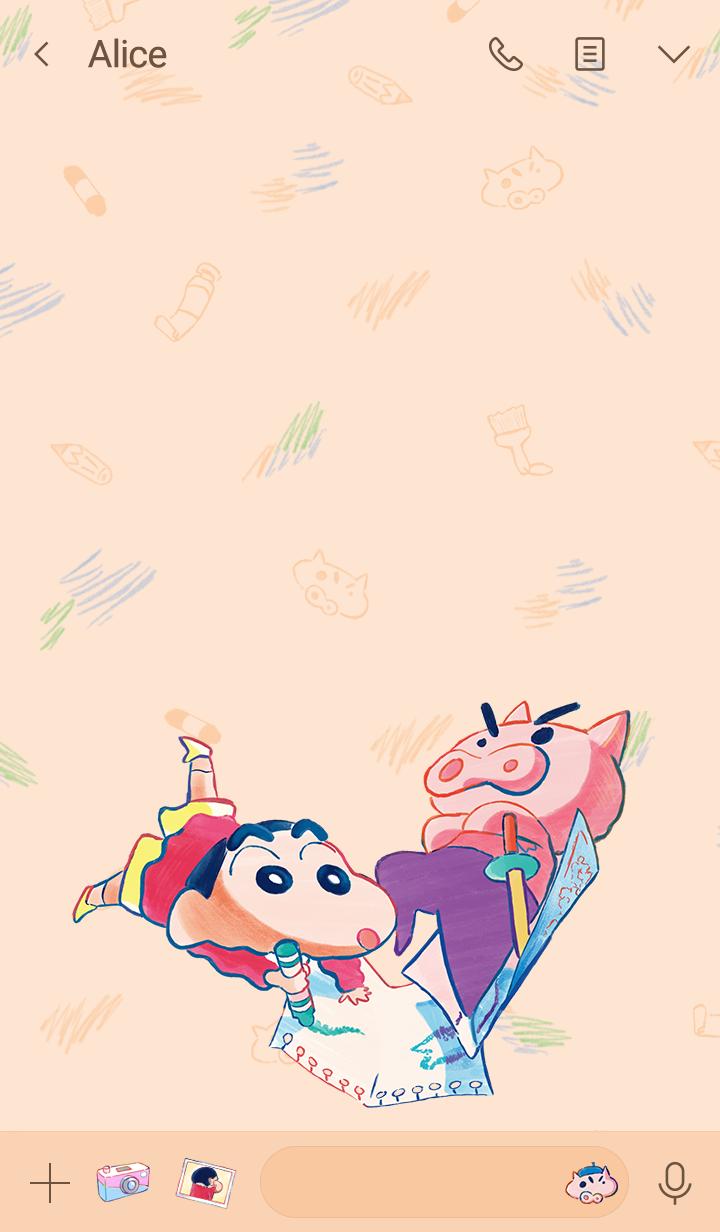 Shinchan & Buriburizaemon (Sketch)