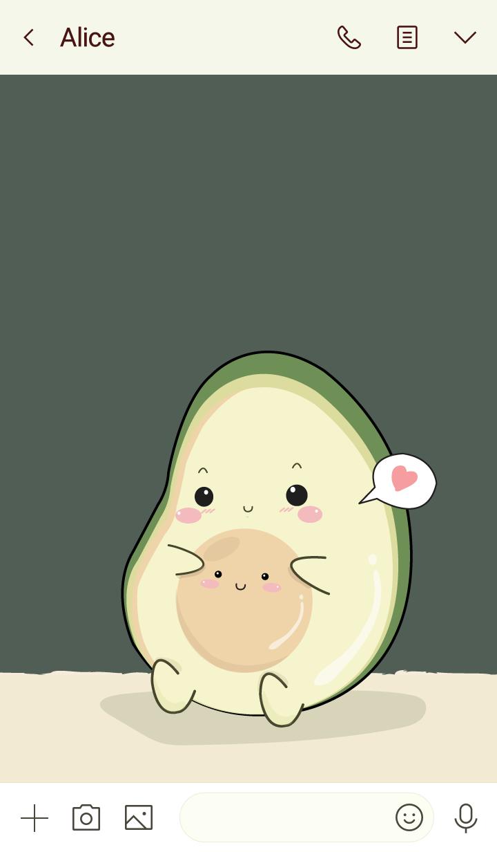 Avocado my love (ver.midnight green)