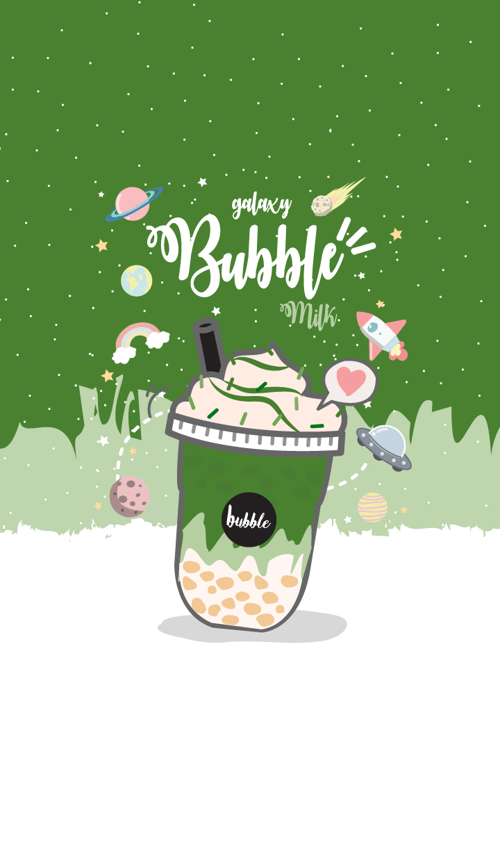 Bubble milk (galaxy green tea ver.)