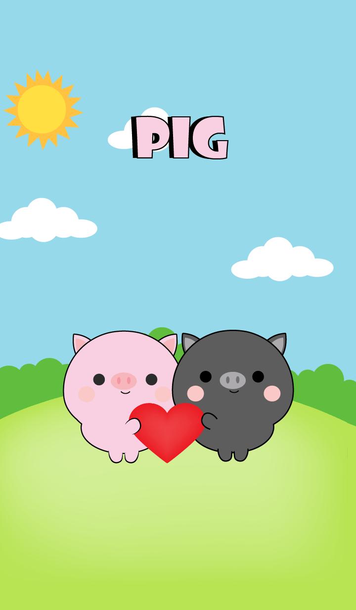 Mini Black Pig & Pig Theme (jp)