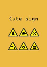 簡約黃色標誌