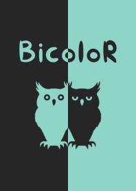 BICOLOR [owl] Blue&Black 139