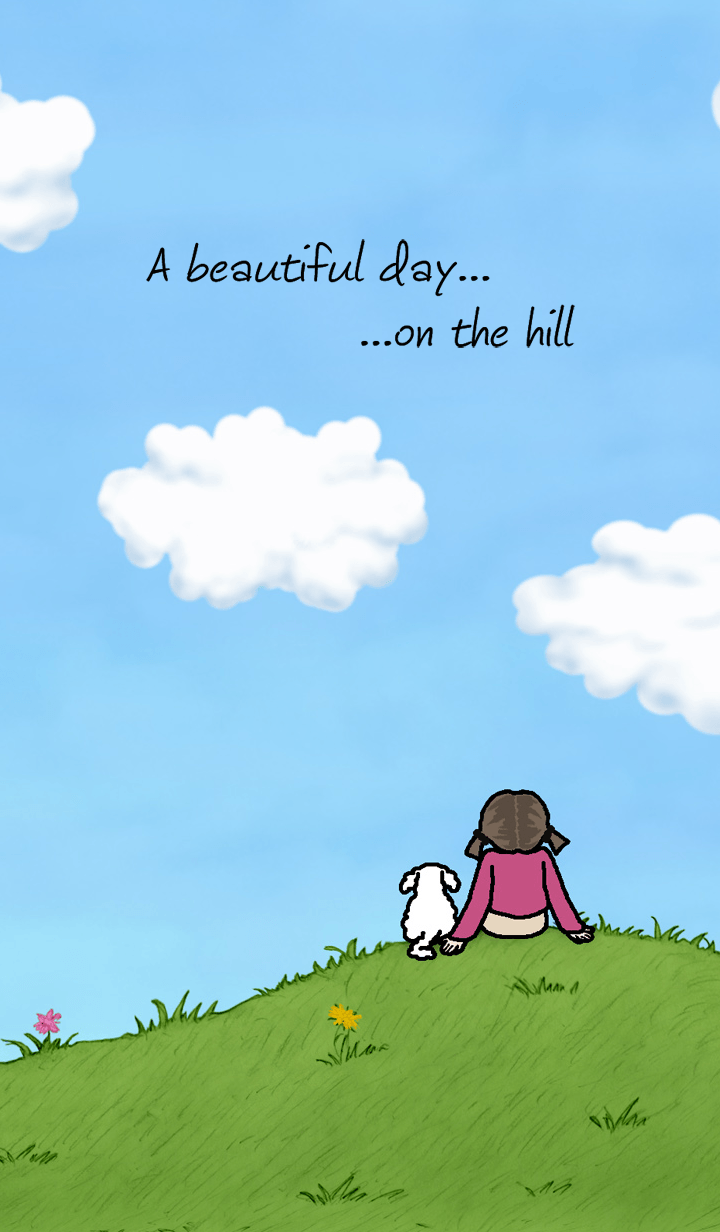 A beautiful day on the hill