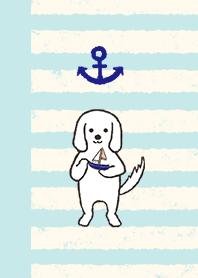 海洋狗(蓝色和米色条纹)