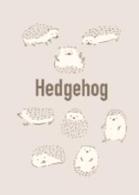 Various gestures hedgehogs #beige