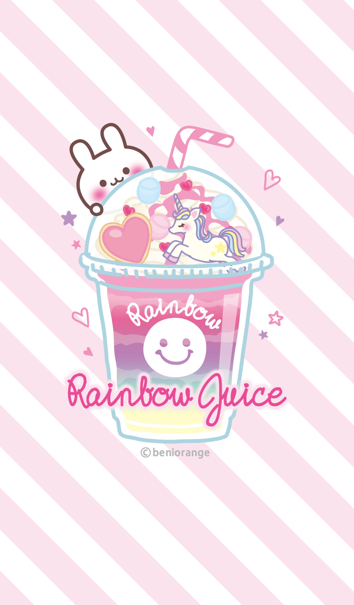 Rainbow juice & rabbit#pop