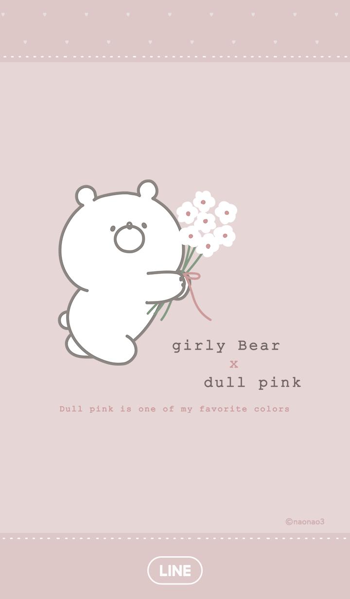 Girly Bear Matte Pink