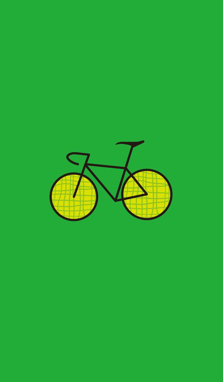 ชุดรูปแบบจักรยานสีเขียว(สีเขียว) (แตง)
