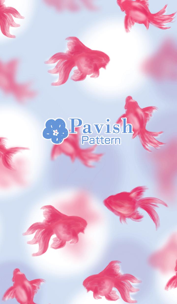 Swimming goldfish -Pavish Pattern-