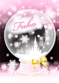 Fuka-Snow dome-Pink-